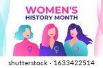 women's history month is... | Shutterstock .eps vector #1633422514