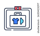 baggage check color line icon....