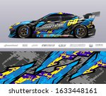 Race Car Livery Design Vector....