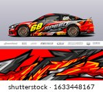 race car livery design vector....   Shutterstock .eps vector #1633448167