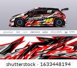 race car livery design vector.... | Shutterstock .eps vector #1633448194