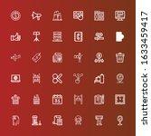 editable 36 business icons for... | Shutterstock .eps vector #1633459417