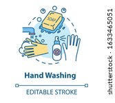 hand washing concept icon.... | Shutterstock .eps vector #1633465051