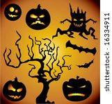 halloween collection. vector... | Shutterstock .eps vector #16334911