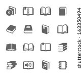 simple set of books related... | Shutterstock .eps vector #163350494