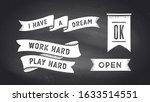 ribbon banner. set of black and ... | Shutterstock .eps vector #1633514551