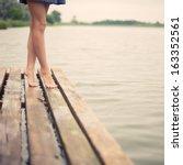 Beautiful Girl's Legs In The...