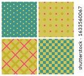 Set Of Polka Dots And Checkere...