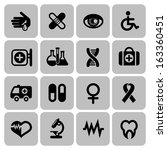 set of medical icons in flat... | Shutterstock .eps vector #163360451