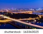 highway in seoul city | Shutterstock . vector #163363025