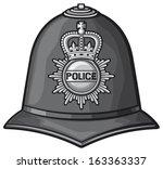 British Police Helmet  Bobby...