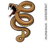 Scary Viper Snake Mascot...