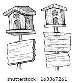 grunge wooden plank with bird...