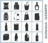 packaging icons  box icons   Shutterstock .eps vector #163368959