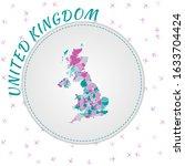 united kingdom map design. map... | Shutterstock .eps vector #1633704424