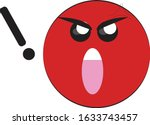 shouting angry emoticon with... | Shutterstock .eps vector #1633743457