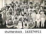 lodz poland  circa fifties   ... | Shutterstock . vector #163374911