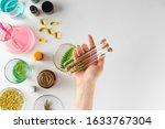 making herbal dietary... | Shutterstock . vector #1633767304