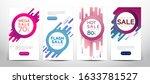 set of modern promotion square  ... | Shutterstock .eps vector #1633781527