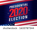 presidential election day usa... | Shutterstock .eps vector #1633787344