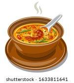 Illustration Of The Hot Thai...