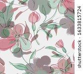 acrylic flowers seamless...   Shutterstock . vector #1633815724