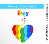 happy valentines day greeting... | Shutterstock . vector #1633830577