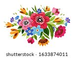 buoquet of beautiful flowers.... | Shutterstock . vector #1633874011