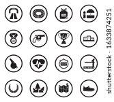 Running Icons. Black Flat...