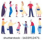 people walking with shopping...   Shutterstock .eps vector #1633912471