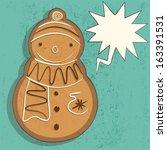 Gingerbread Snowman Hand Drawn...