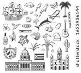 cuba and havana icons  travel... | Shutterstock .eps vector #1633936144