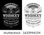 western label for whiskey or... | Shutterstock .eps vector #1633944154