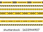 caution tape set  do not enter... | Shutterstock .eps vector #1633944907
