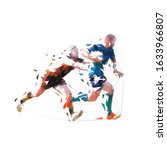 rugby players  low polygonal...   Shutterstock .eps vector #1633966807