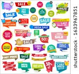 collection of colorful sale...   Shutterstock . vector #1633967851