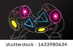 vector illustration cyberpunk... | Shutterstock .eps vector #1633980634