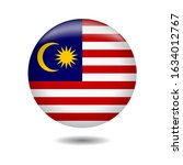 malaysia flag icon 3d gradient... | Shutterstock .eps vector #1634012767