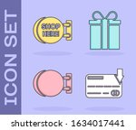 set credit card  signboard... | Shutterstock .eps vector #1634017441