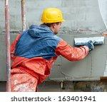 facade plasterer builder... | Shutterstock . vector #163401941