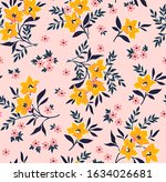 elegant floral pattern in small ... | Shutterstock .eps vector #1634026681