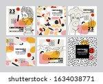 set of vector banners in trendy ... | Shutterstock .eps vector #1634038771