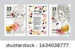 set of vector banners in trendy ... | Shutterstock .eps vector #1634038777