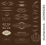 calligraphic design elements... | Shutterstock .eps vector #163404281