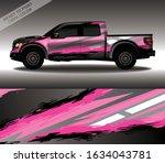 car wrap decal design vector ...   Shutterstock .eps vector #1634043781