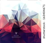 abstract polygonal background ... | Shutterstock .eps vector #163404671
