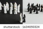 a closeup shot of small statues ...   Shutterstock . vector #1634050324