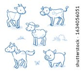 Cute Cartoon Farm Animals For...