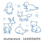 Cute Cartoon Arctic Animals For ...