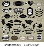set of vintage retro labels | Shutterstock .eps vector #163406234
